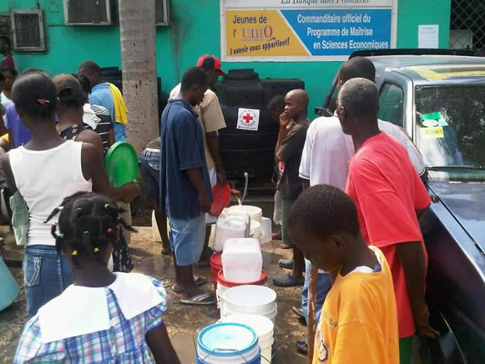 Crowd in Haiti