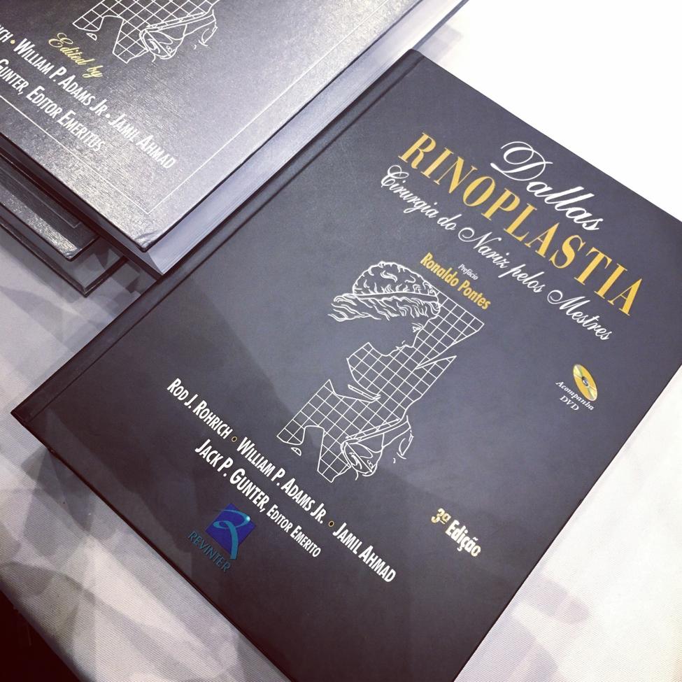 stack of rhinoplasty textbooks