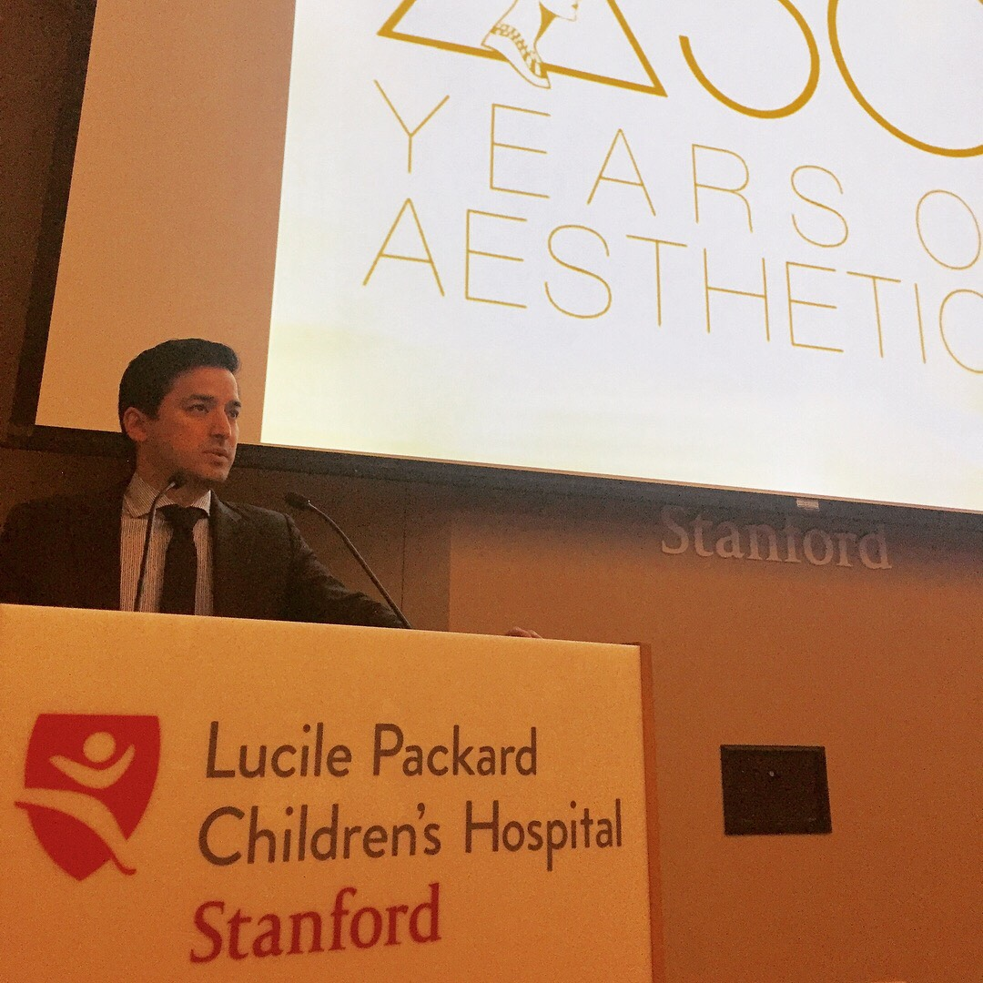 Dr. Ahmad Lecturing at Stanford University